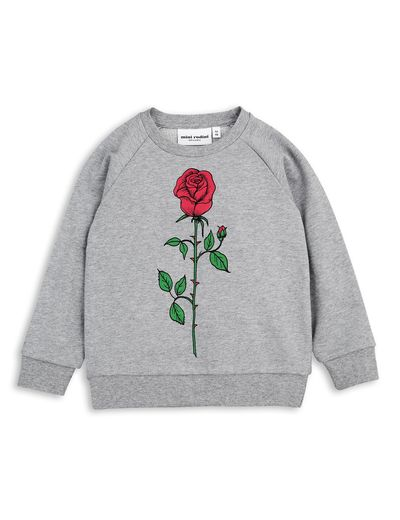 mini rodini - Rose SP sweatshirt, grey melange