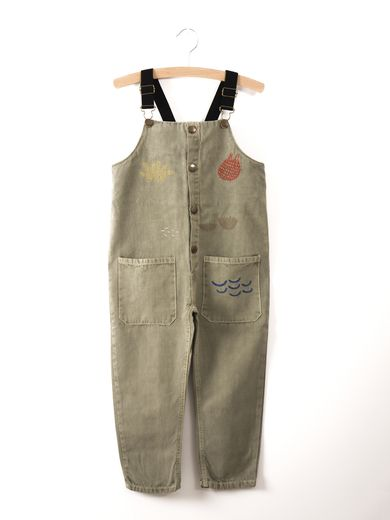 Bobo Choses - Dungarees sea junk embr., seagrass