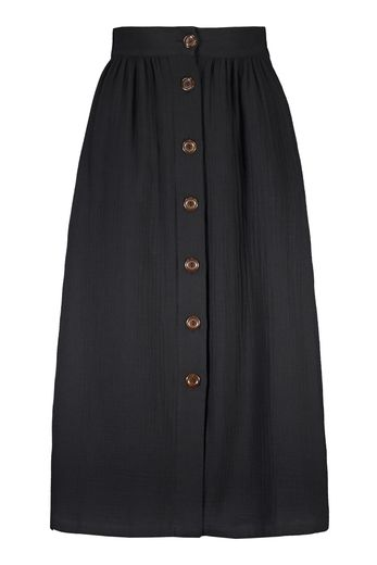 Kaiko - Woman Button Skirt, black