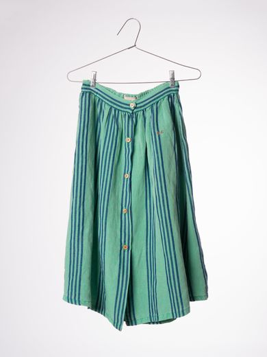 Bobo Choses - Striped midi skirt, deep green