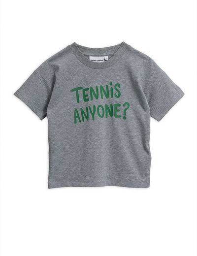 Mini Rodini - Tennis anyone tee,Grey melange
