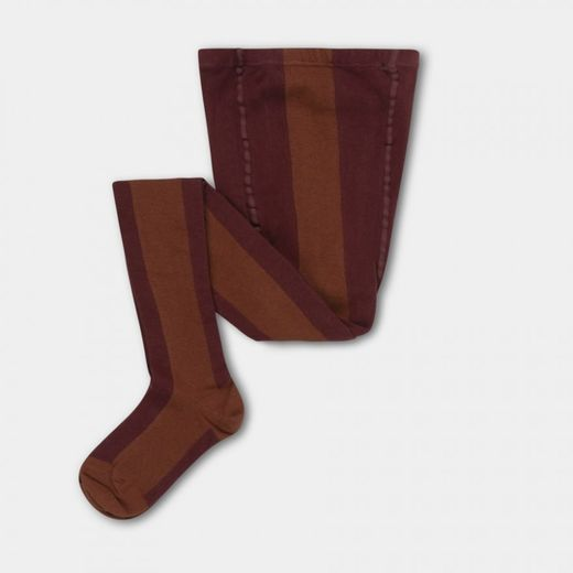 Repose AMS - Tights, rosewood red stripe