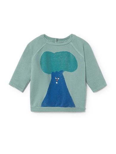 Bobo Choses - Baby Tree Long Sleeve Sweatshirt, green