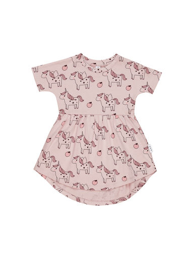 Huxbaby - Unicorn Swirl Dress, blush