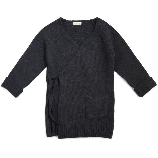 Phil&Phae - Woolmix knit cardigan, Charcoal