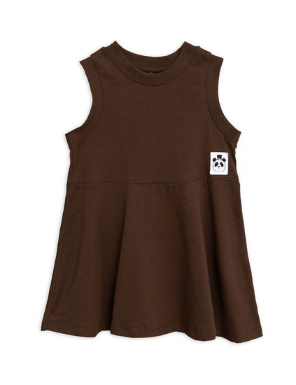 91e73ace Mini Rodini - Solid cotton tank dress, Brown | Pikkuotus -Children´s ...