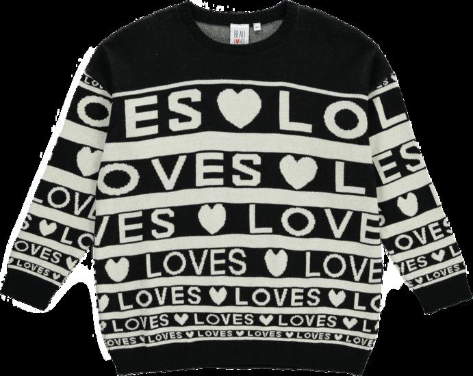 1ee87e907 Beau LOves - Knit sweater Love stripes